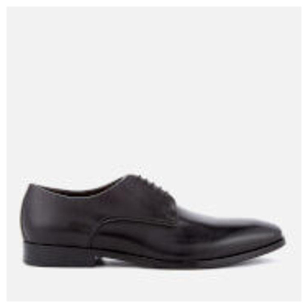 BOSS Hugo Boss Men's High Line Leather Derby Shoes - Black