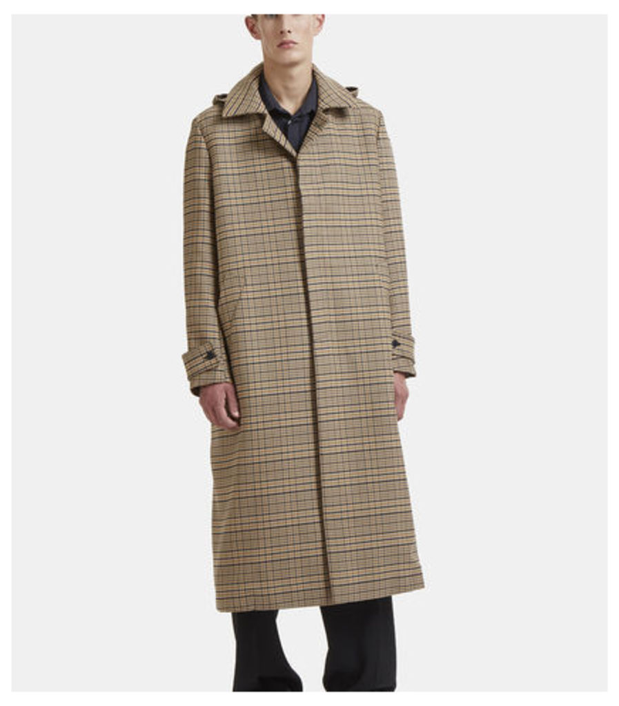 Detachable Hood Tartan Coat