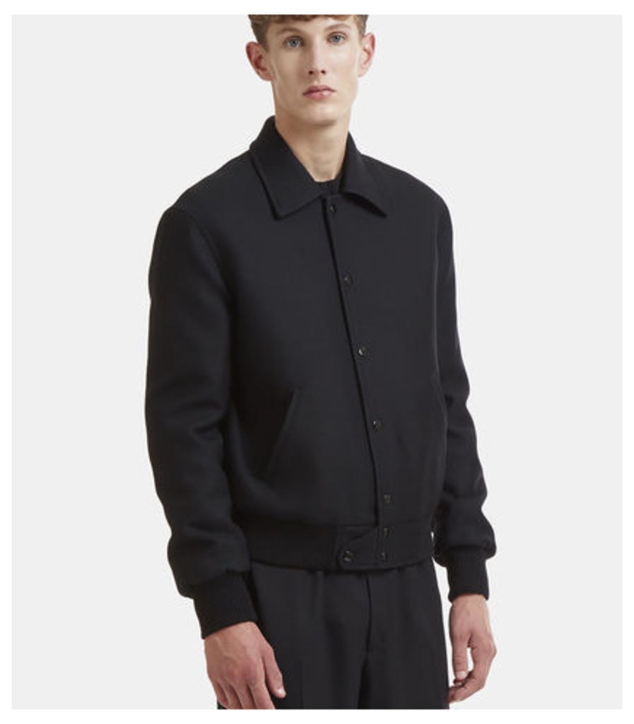 Classic Woollen Teddy Jacket in Black