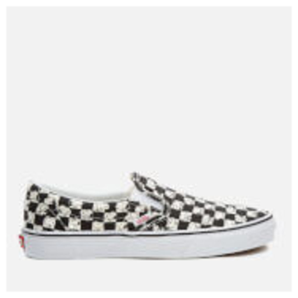 Vans X Peanuts Men's Classic Slip-On Trainers - Snoopy/Checkerboard