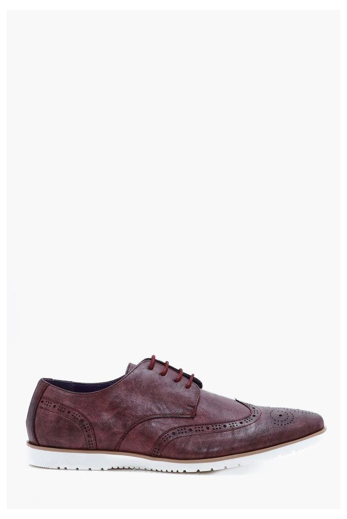 Sole Brogues - burgundy