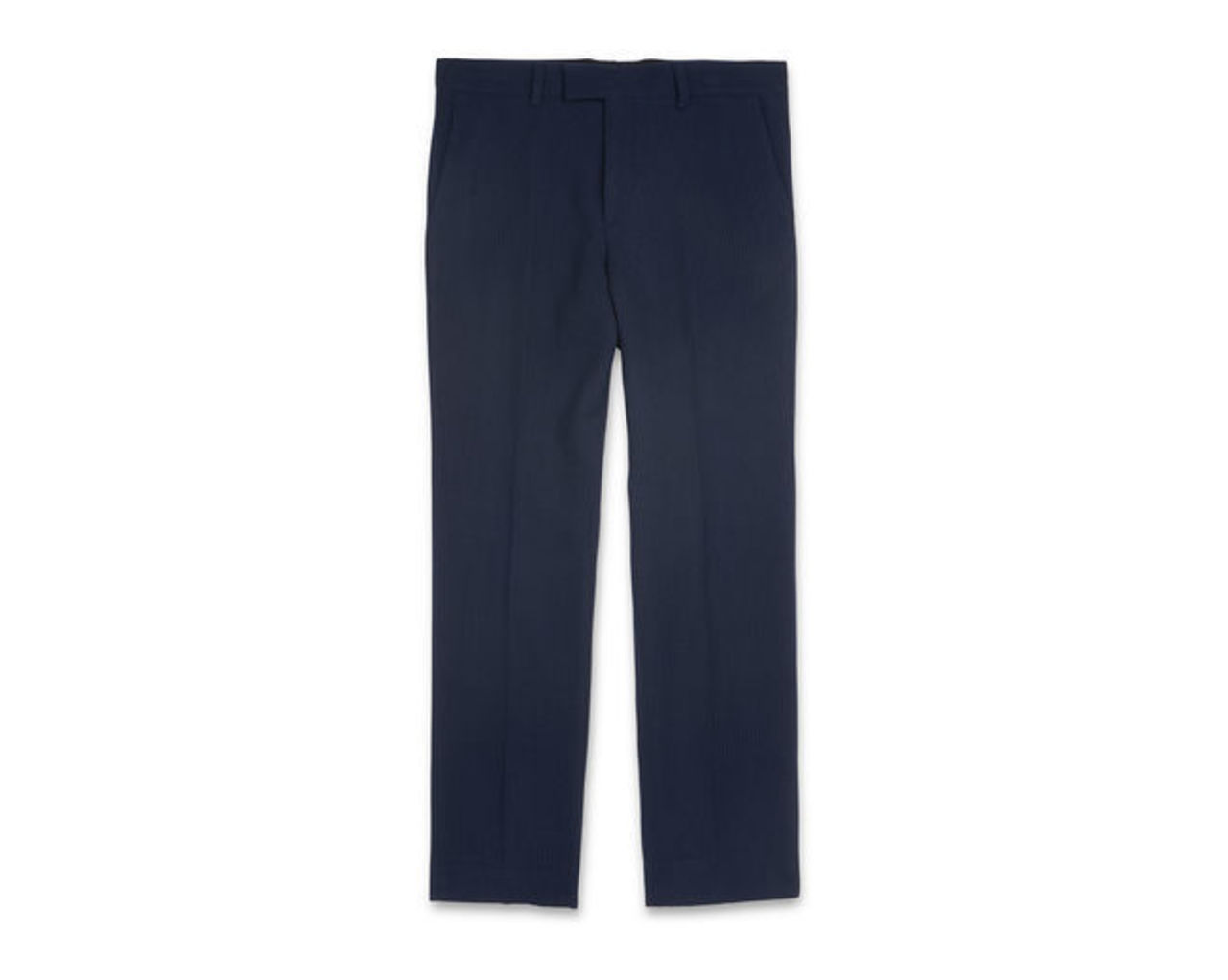 Slim-Fit Waffle Trousers