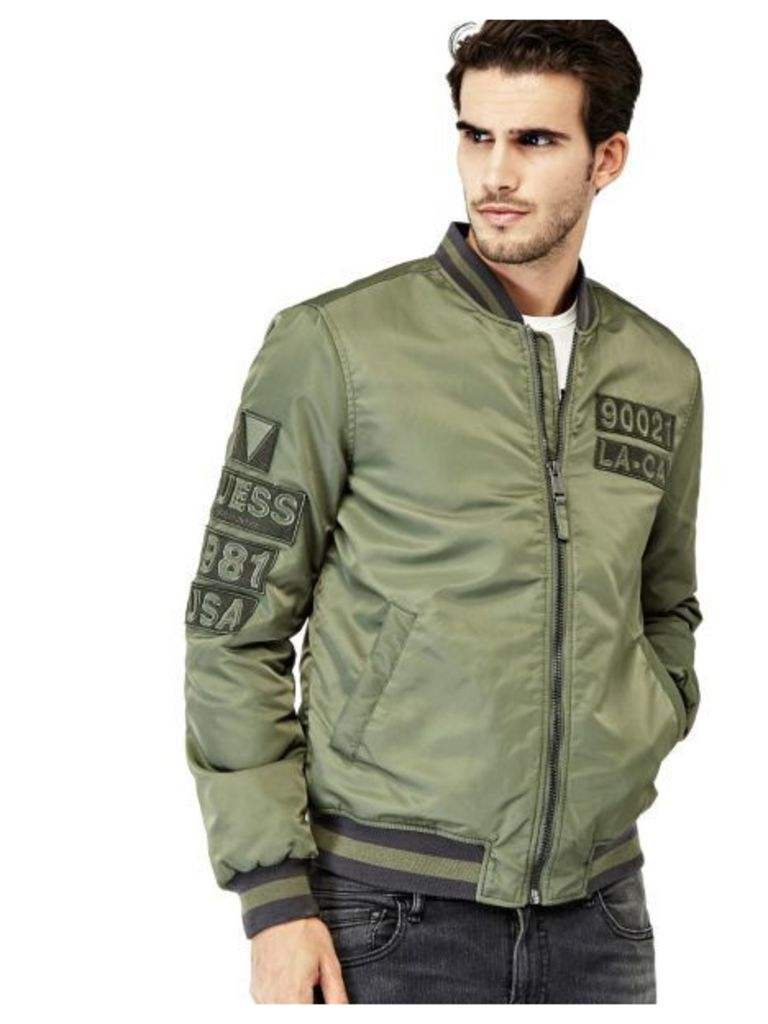 Guess Bomber With Striped Inserts