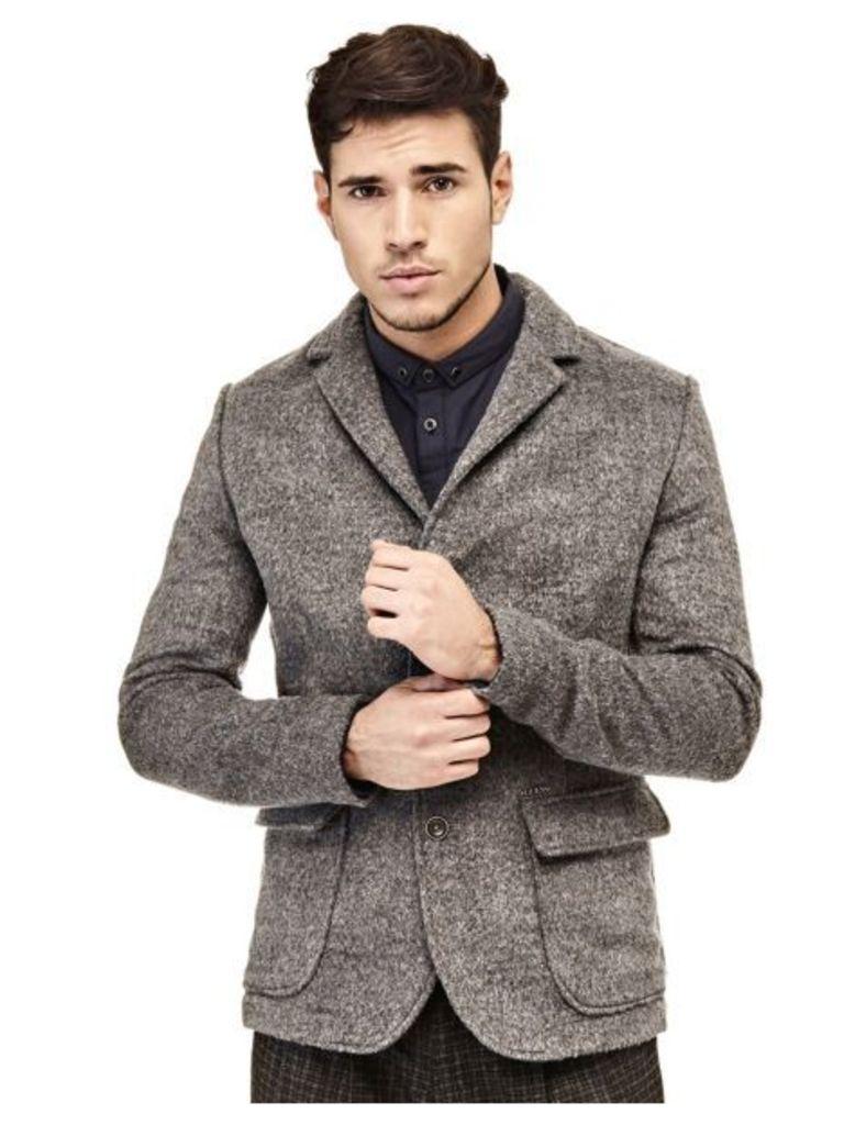 Guess Wool Blend Slim Blazer