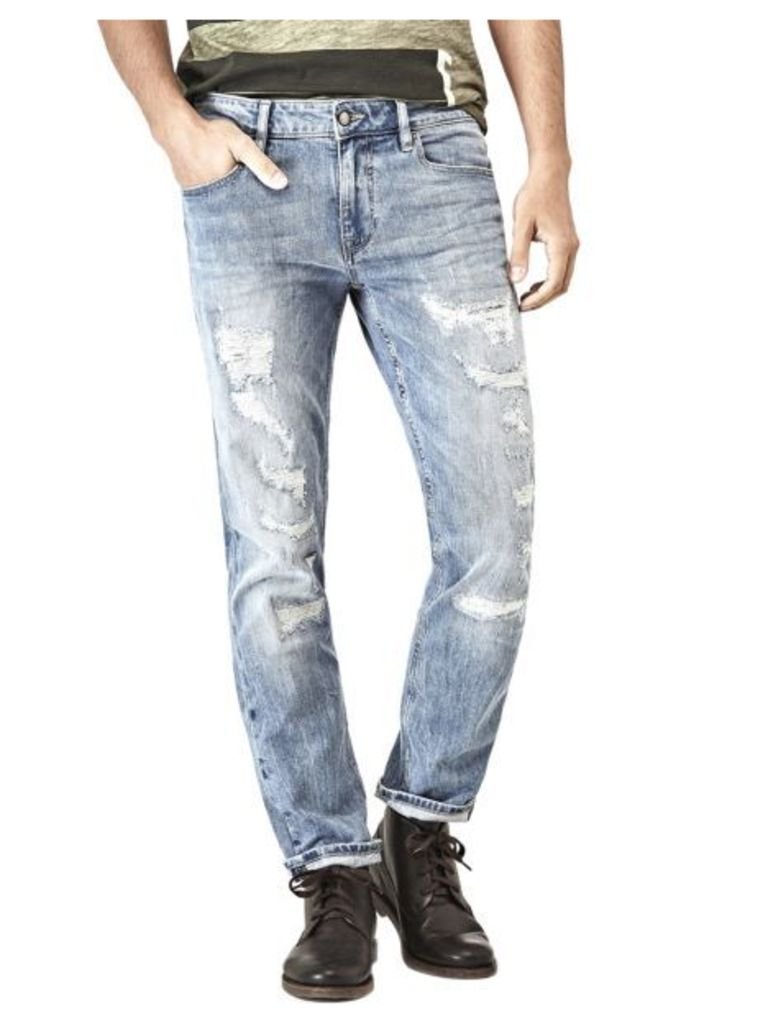 Guess Skinny Jeans With Ripped Front