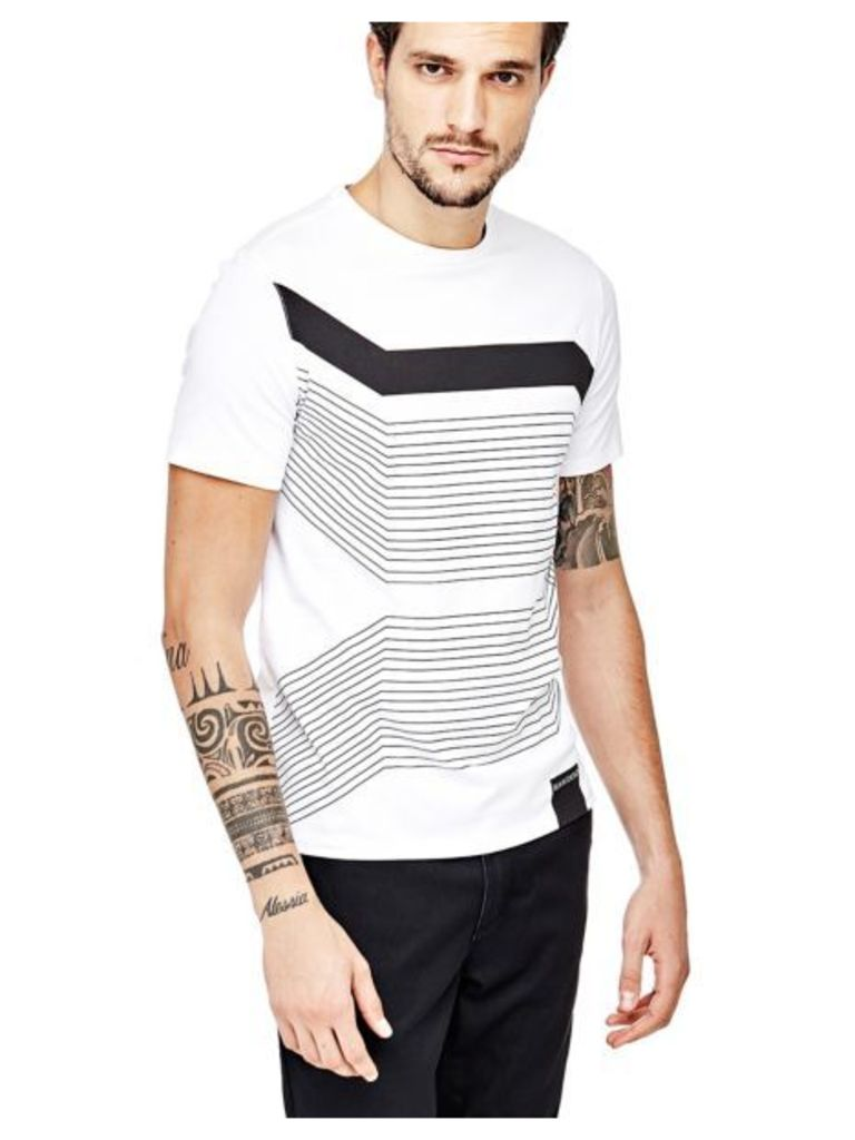 Marciano Guess Marciano Stripe Print T-Shirt