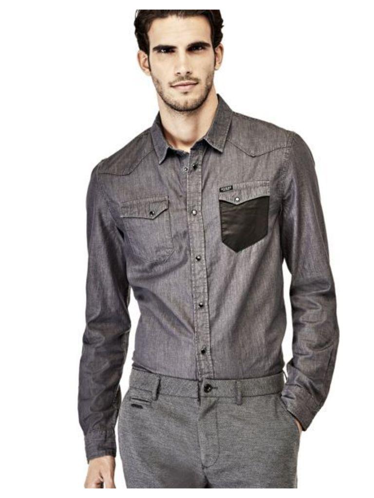 Guess Denim Shirt With Pockets