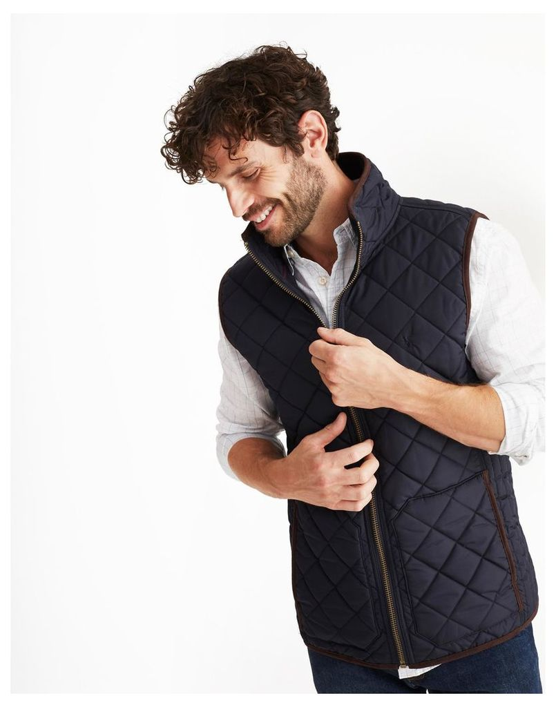 Marine Navy Outland Quilted Gilet  Size XL | Joules UK