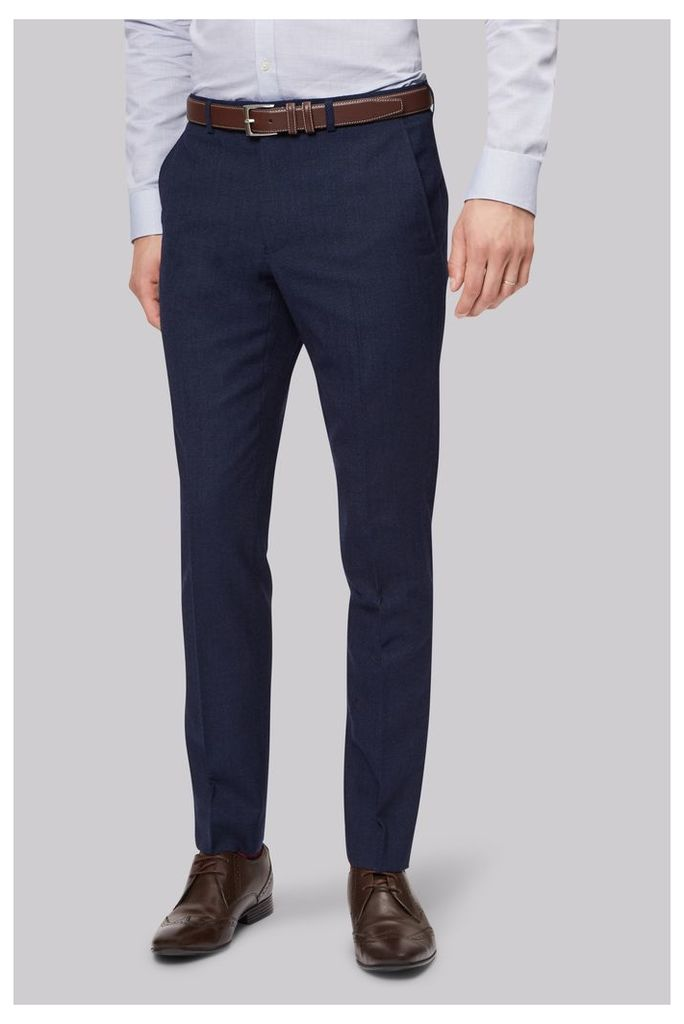 Moss London Skinny Fit Ink Texture Trouser