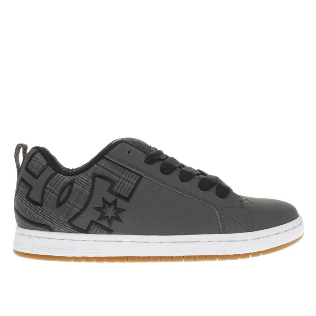 dc shoes dark grey court graffik trainers