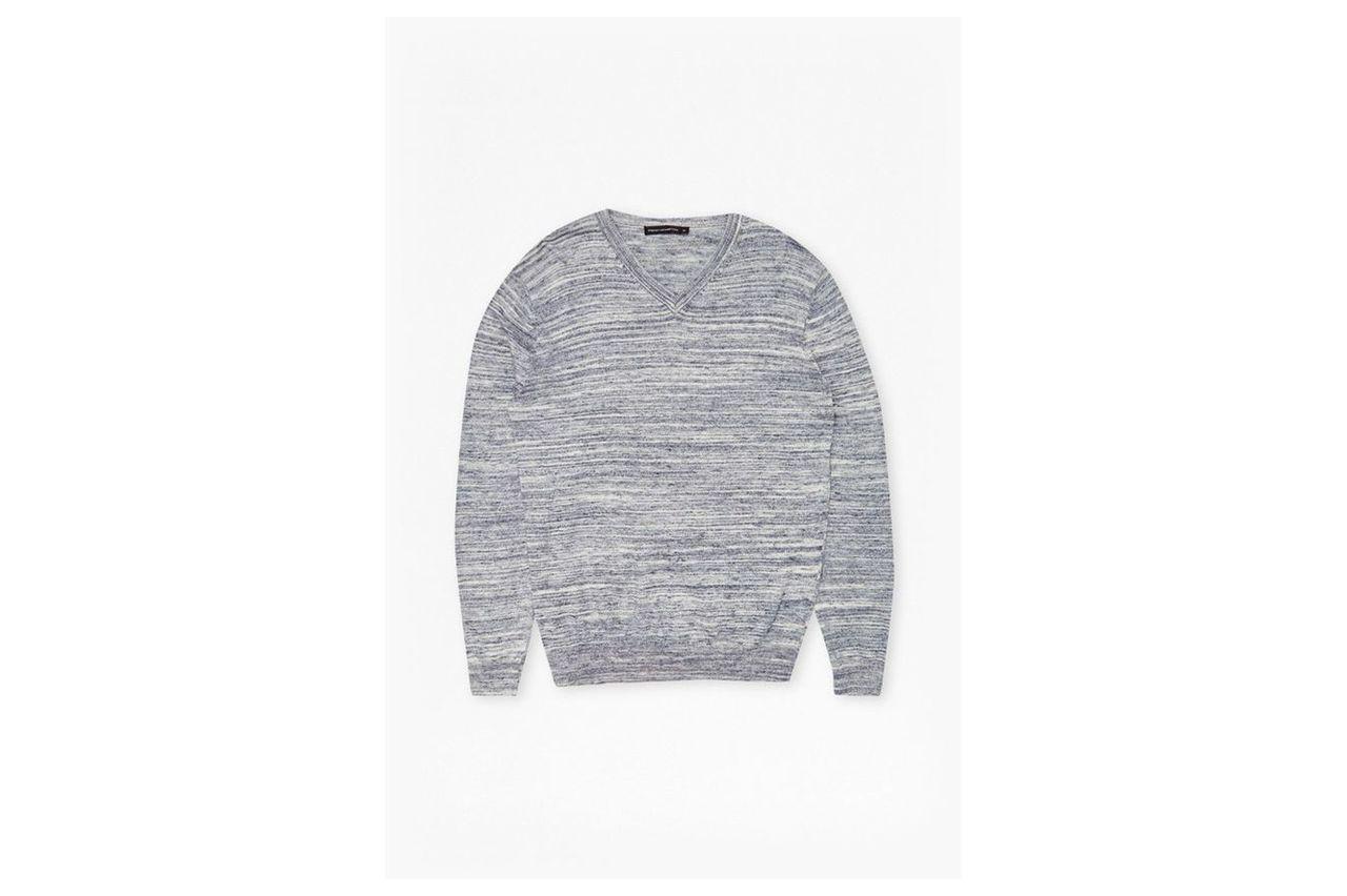 Get Away Knits Slub Sweater  - marine blue/salt