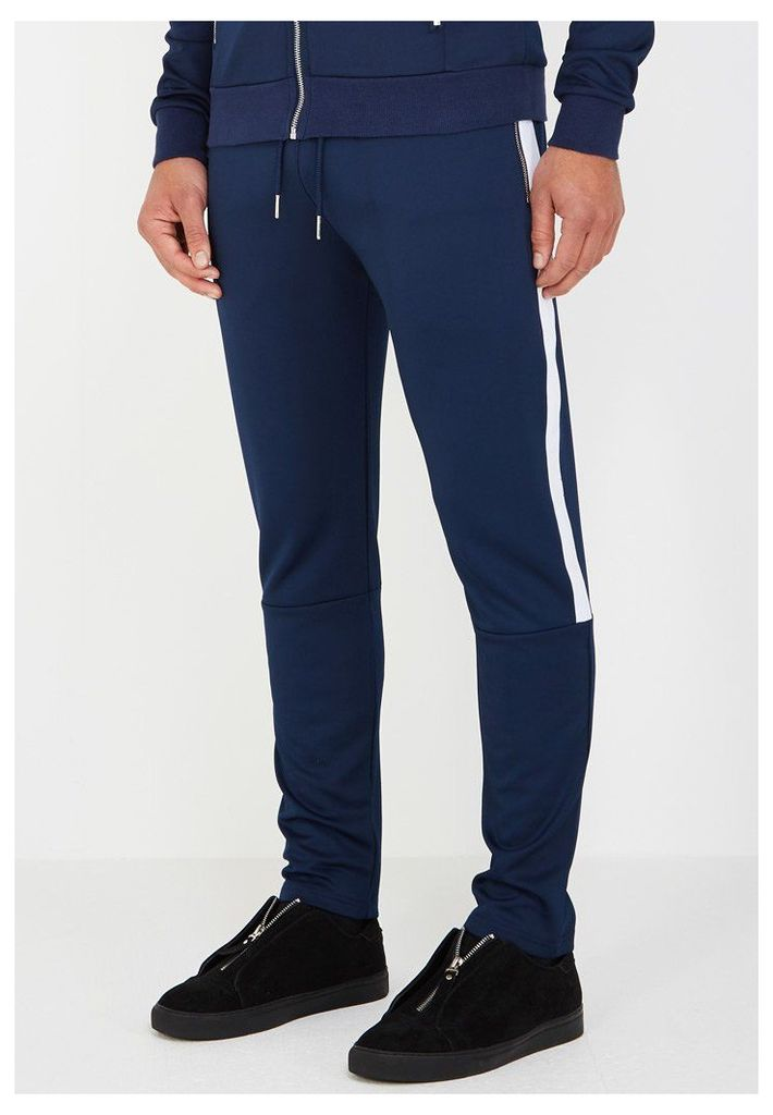 MDV Tracksuit Bottoms with Stripe - Navy