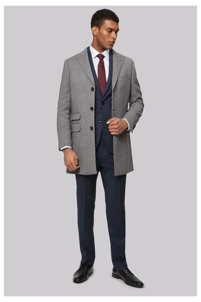 Moss 1851 Grey Double Face Overcoat