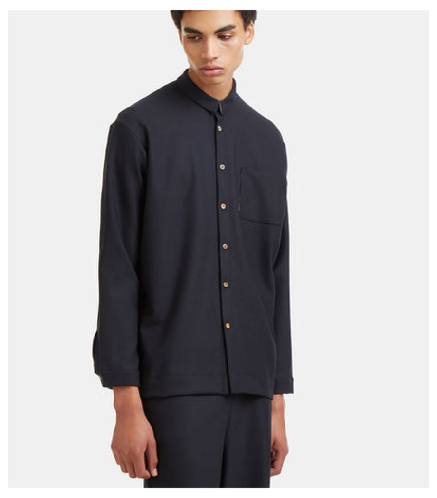 Dropped Sleeve Patch Pocket Shirt