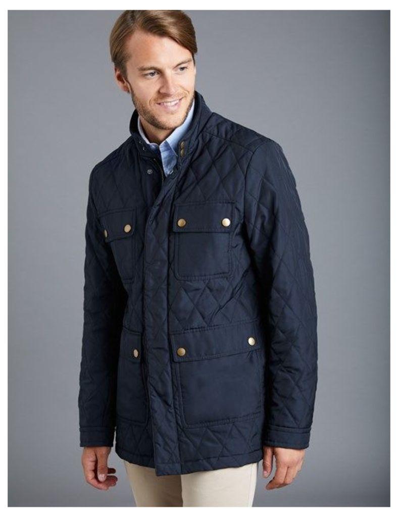 Men's Navy 4 Pocket Quilted jacket
