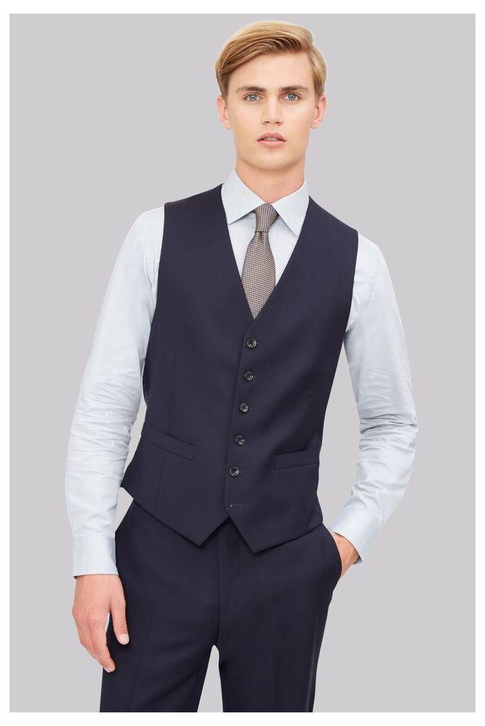 Hardy Amies Tailored Fit Navy Waistcoat