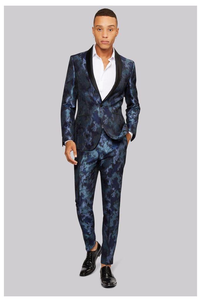 Moss London Blue Merman Shawl Jacket