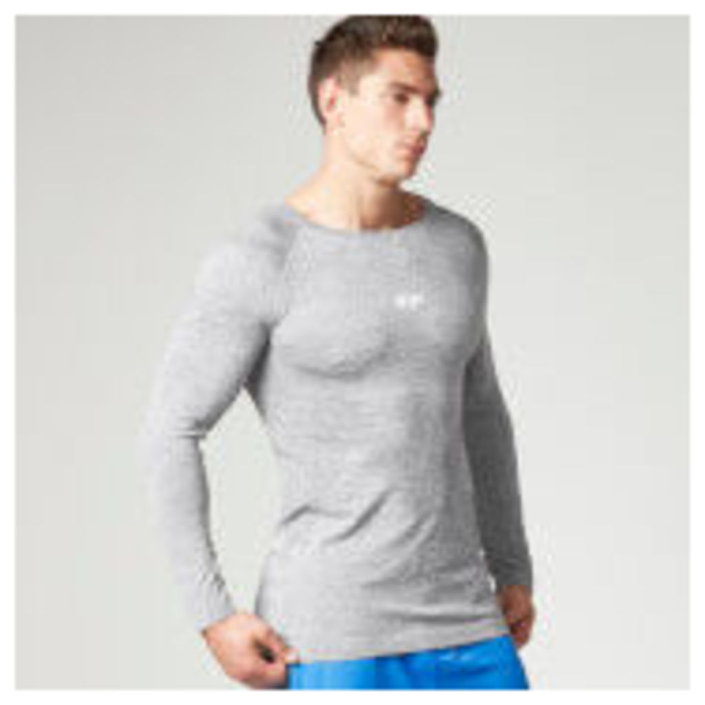 Myprotein Men's Seamless Performance Long Sleeve Top - Grey