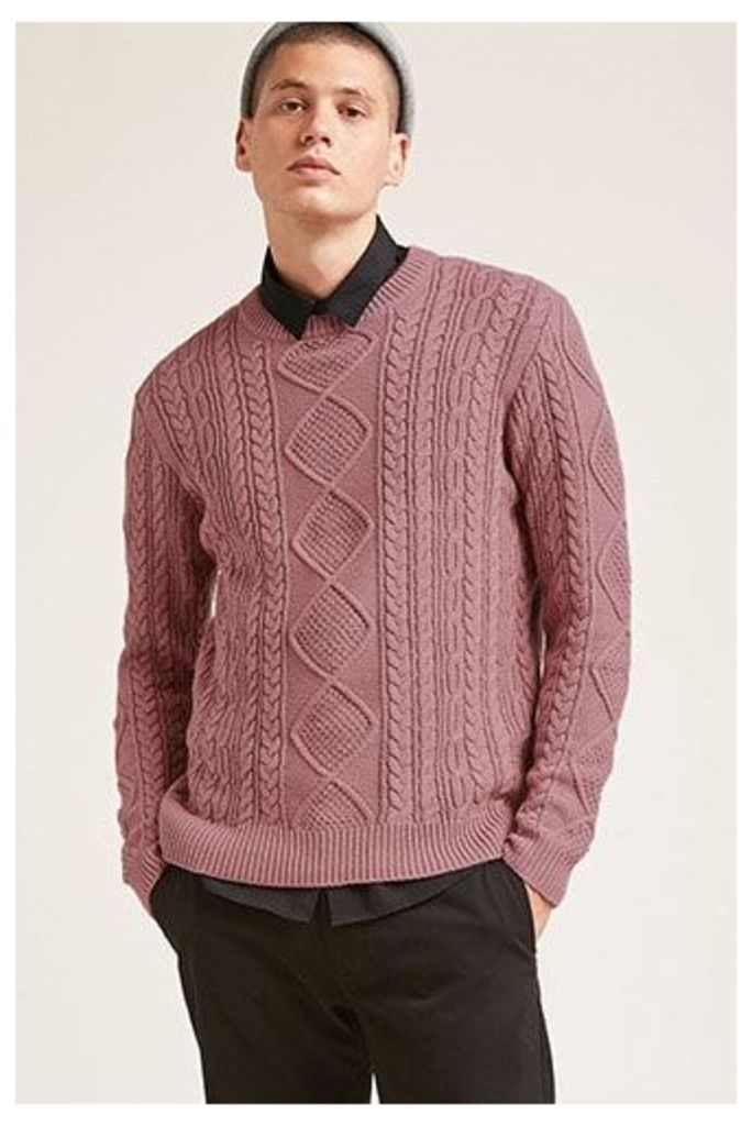 Cable-Knit Fisherman Sweater