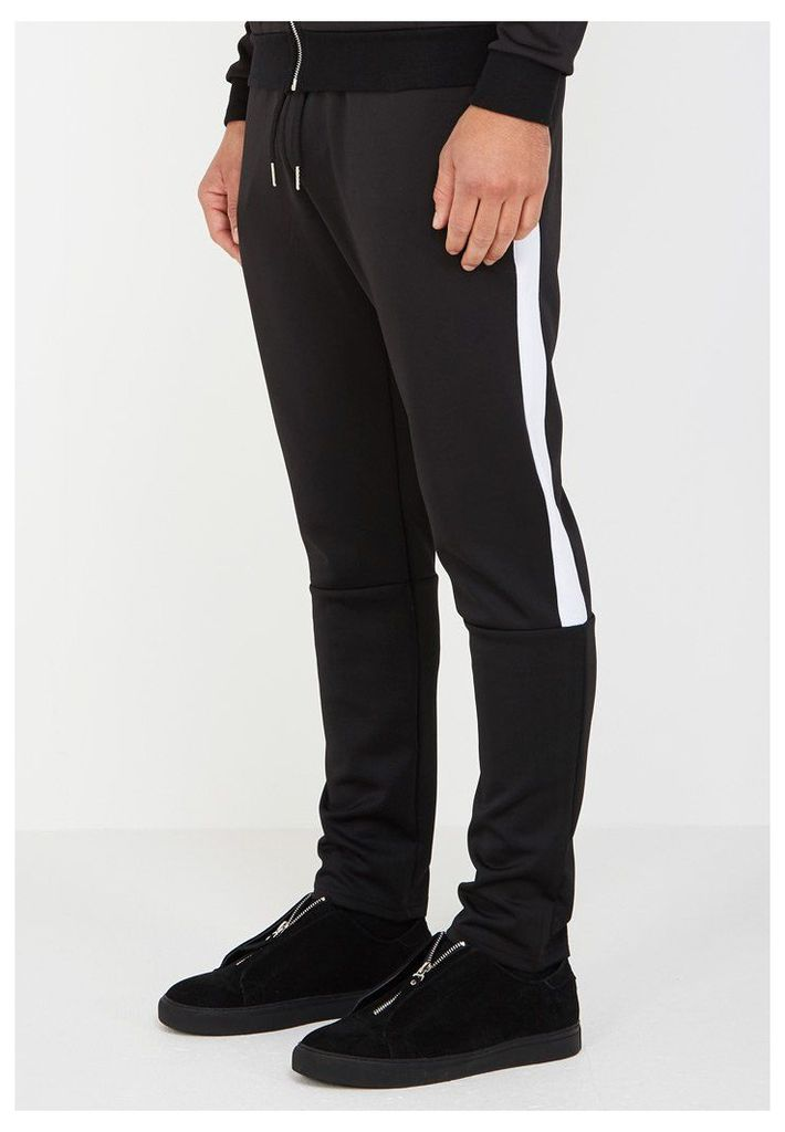 MDV Tracksuit Bottoms with Stripe - Black