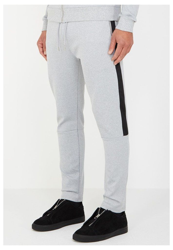 MDV Tracksuit Bottoms with Stripe - Grey
