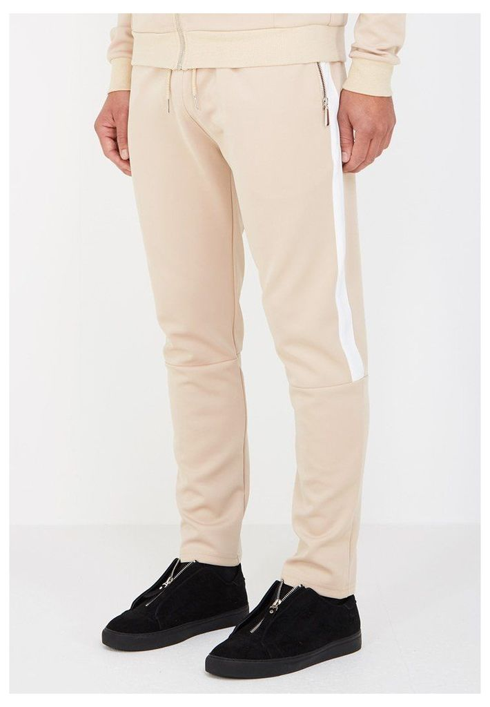 MDV Tracksuit Bottoms with Stripe - Beige