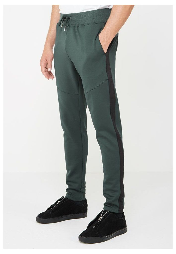 MDV Tracksuit Bottoms with Stripe - Green