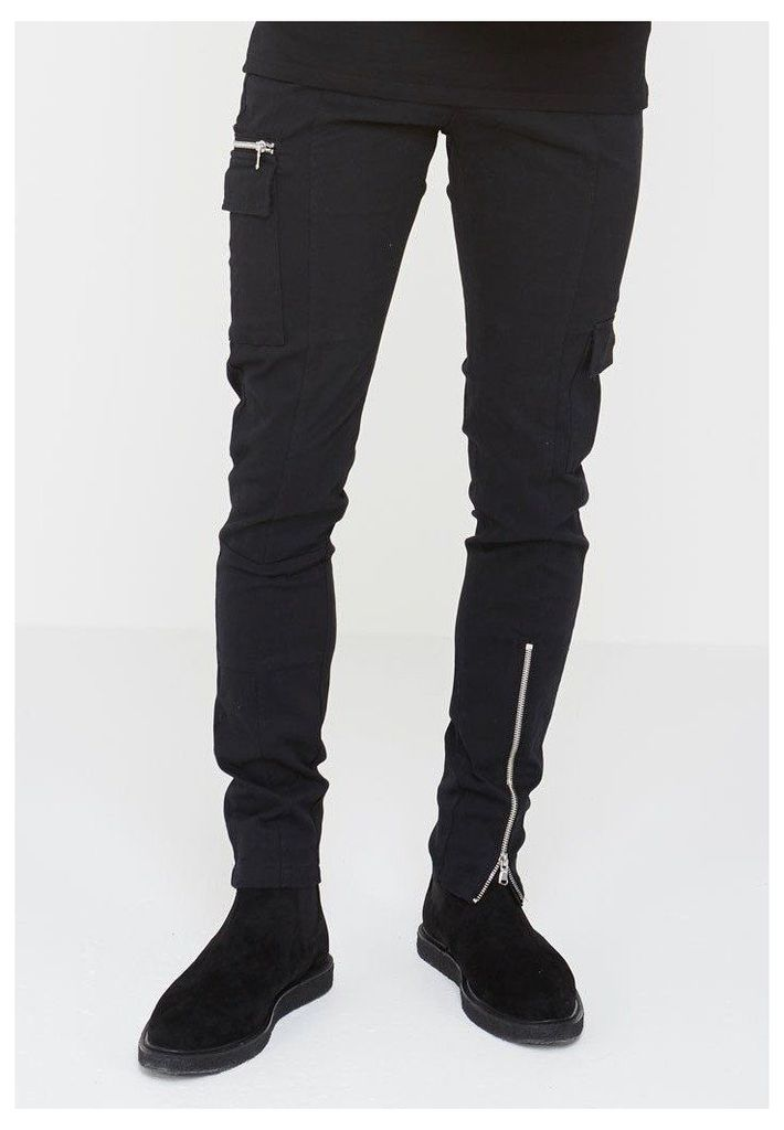 Cargo Pocket Trousers - Black