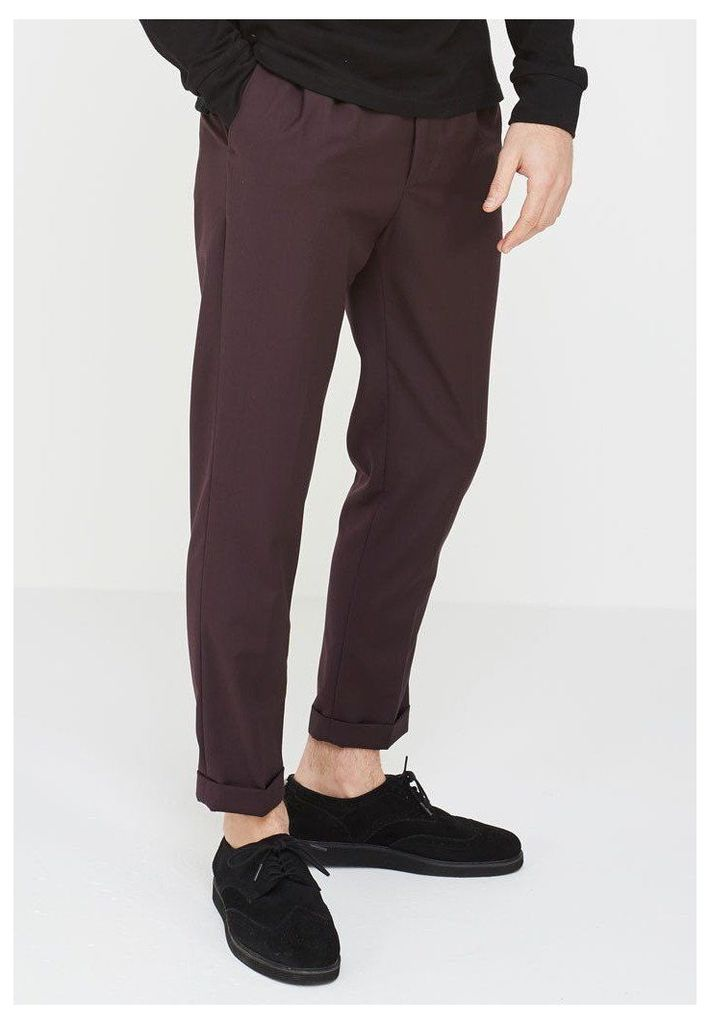 Cropped Trousers - Merlot