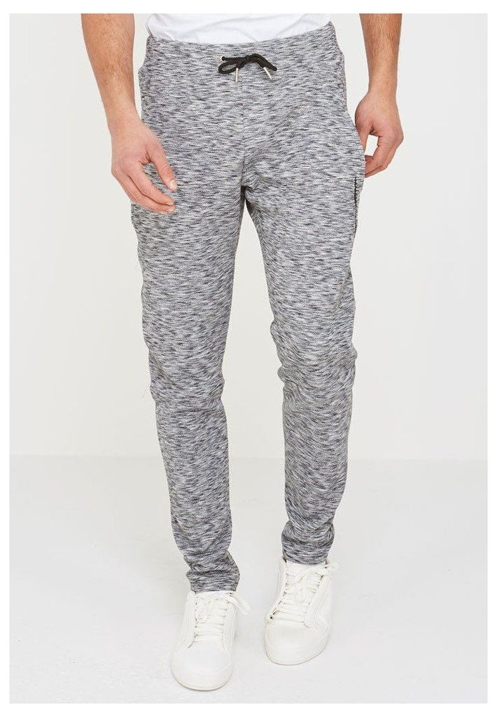 Marl Textured Joggers - Grey
