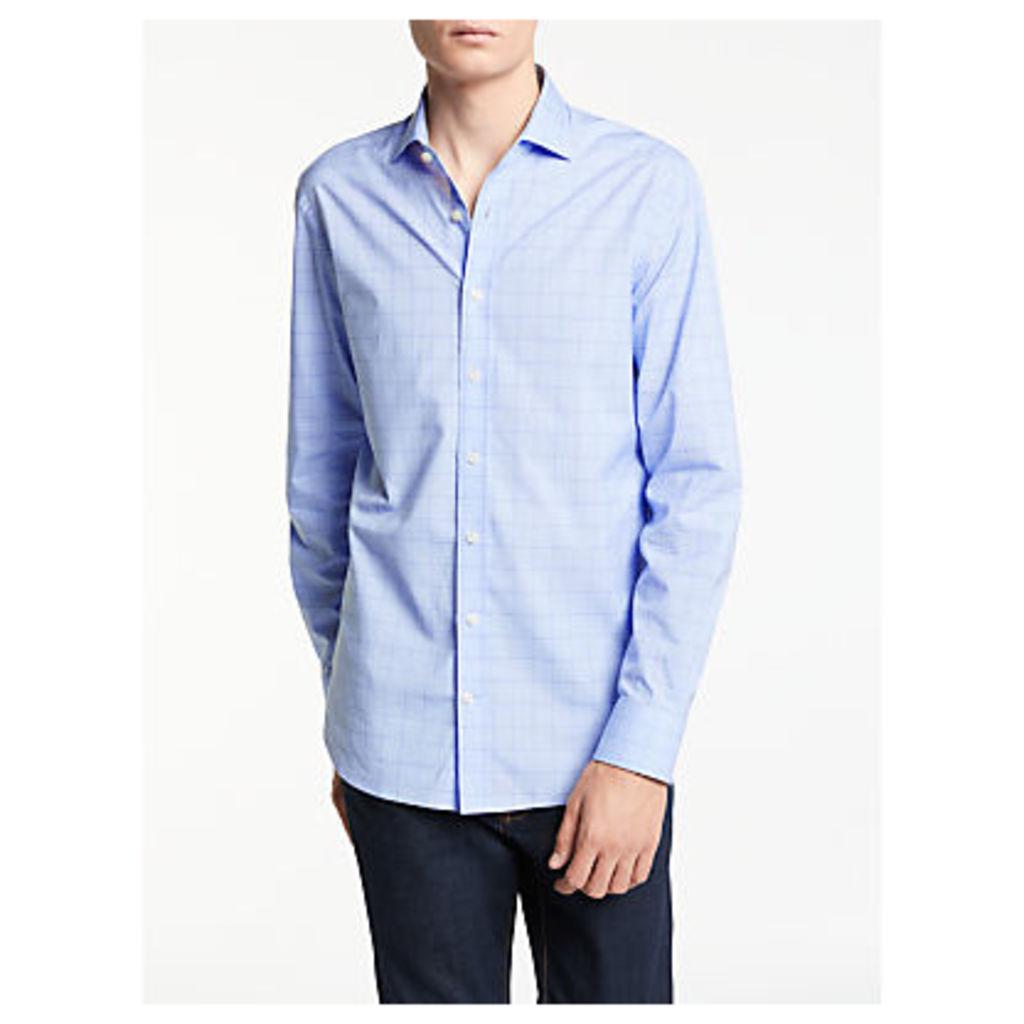 Hackett London Winter Melange Check Shirt, Navy/Grey