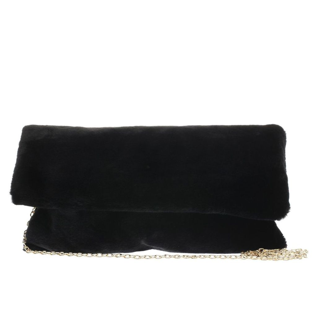 missguided black cuddle clutch bag accessory