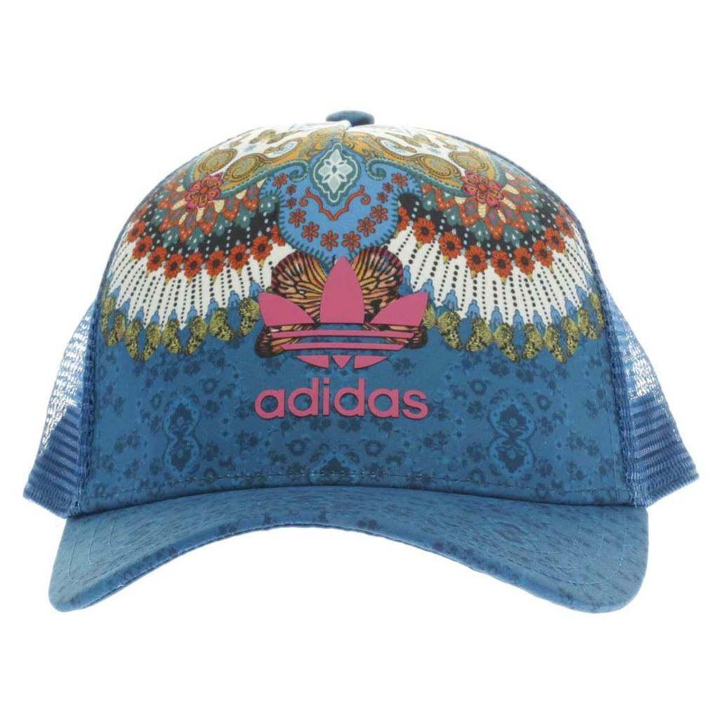 adidas navy & white floral cap caps and hats