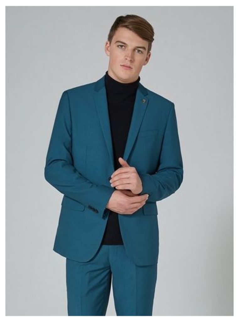 Mens FARAH Blue 'Henderson' Blazer, Blue