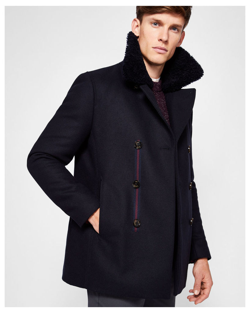Ted Baker Wool overcoat Navy