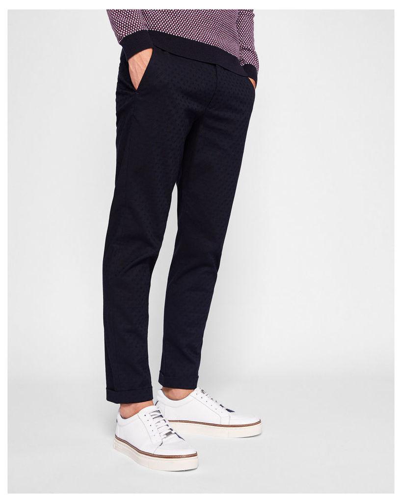 Ted Baker Jacquard design trousers Navy