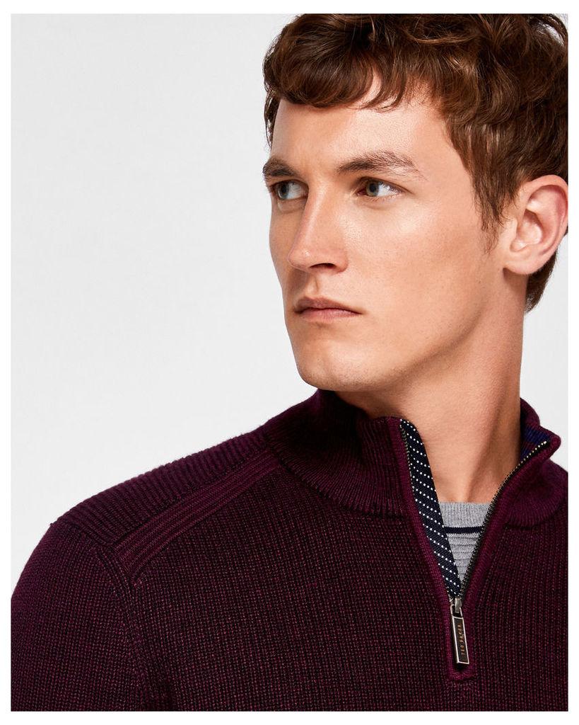 Ted Baker Knitted funnel neck jumper Purple