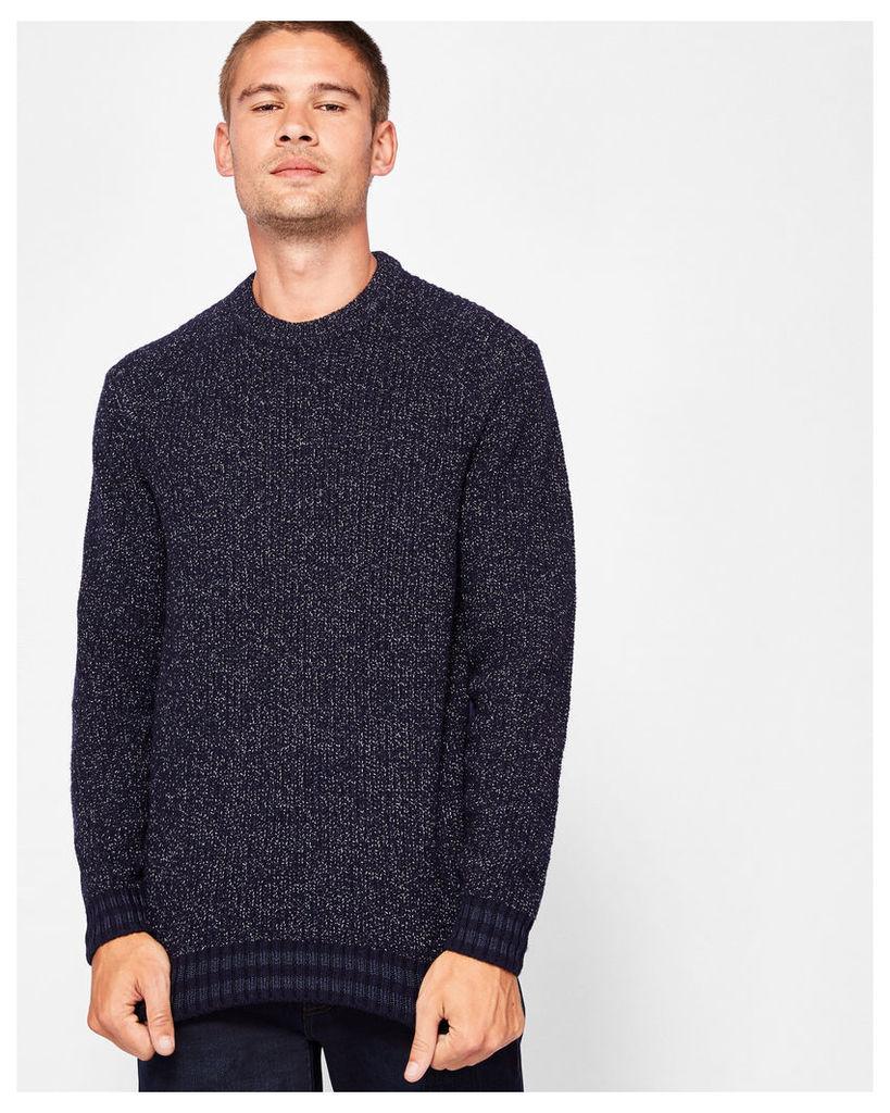 Ted Baker Wool-blend textured jumper Navy