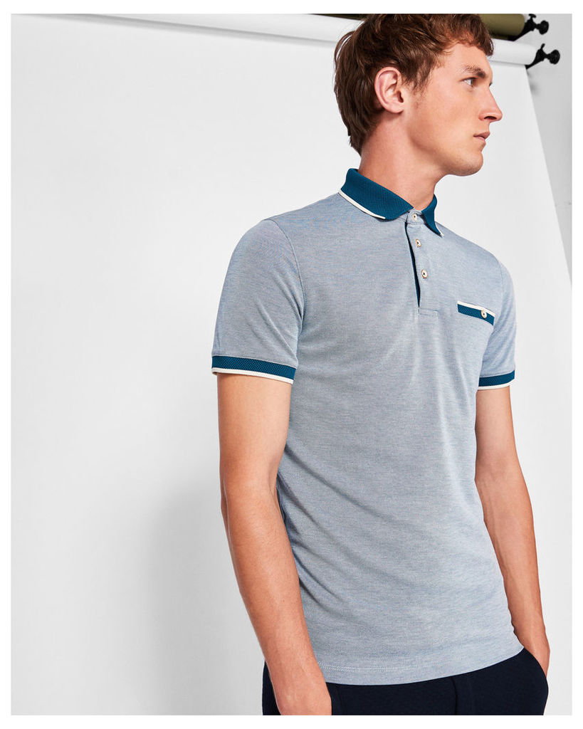 Ted Baker Soft touch polo shirt Teal