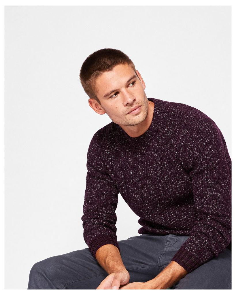 Ted Baker Wool-blend textured jumper Deep Purple