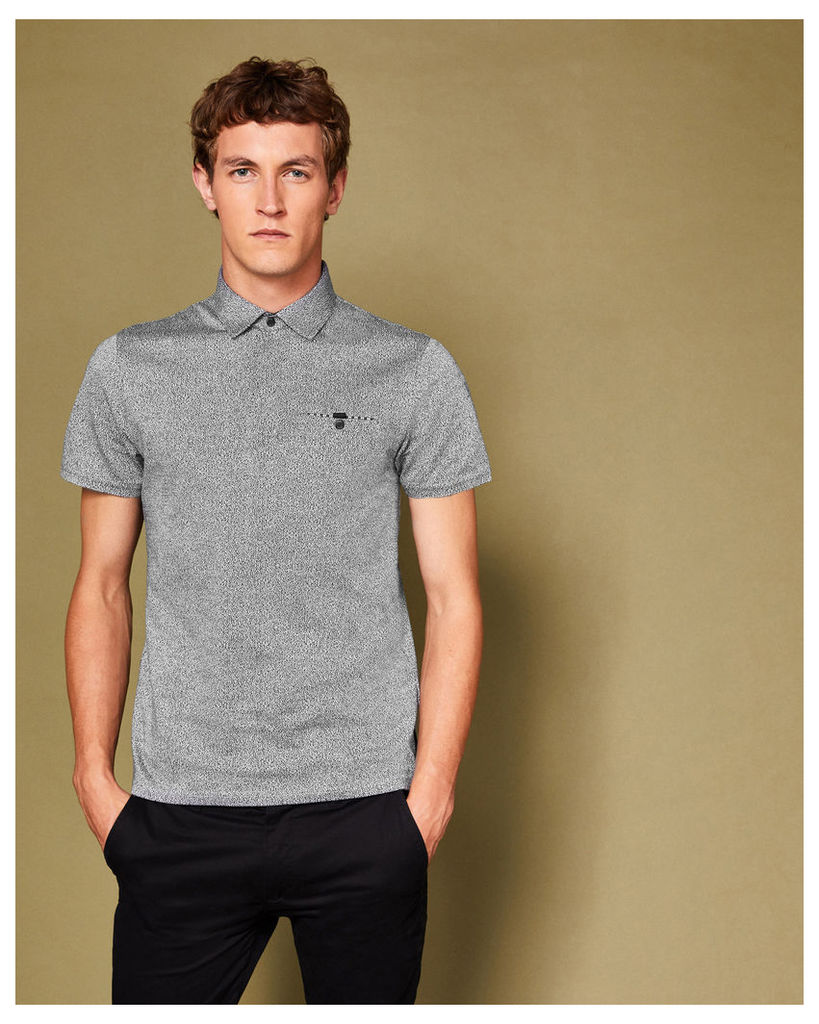 Ted Baker Textured cotton polo shirt Black
