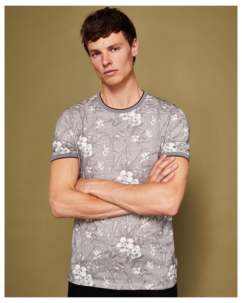 Ted Baker Floral print T-shirt Grey