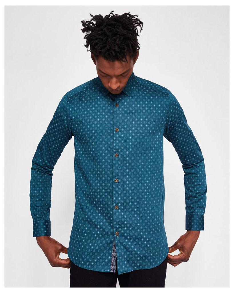 Ted Baker Diamond print shirt Teal