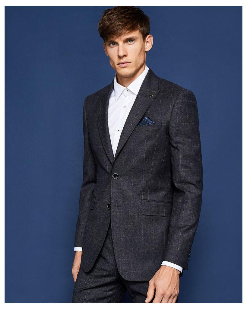 Ted Baker Debonair check suit jacket Grey