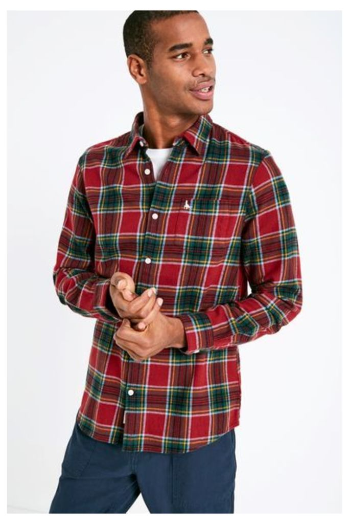 STANWICK MW FLANNEL CHECK SHIRT RED/GREEN