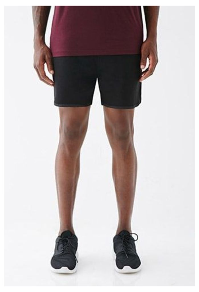 Satin-Trimmed Gym Shorts