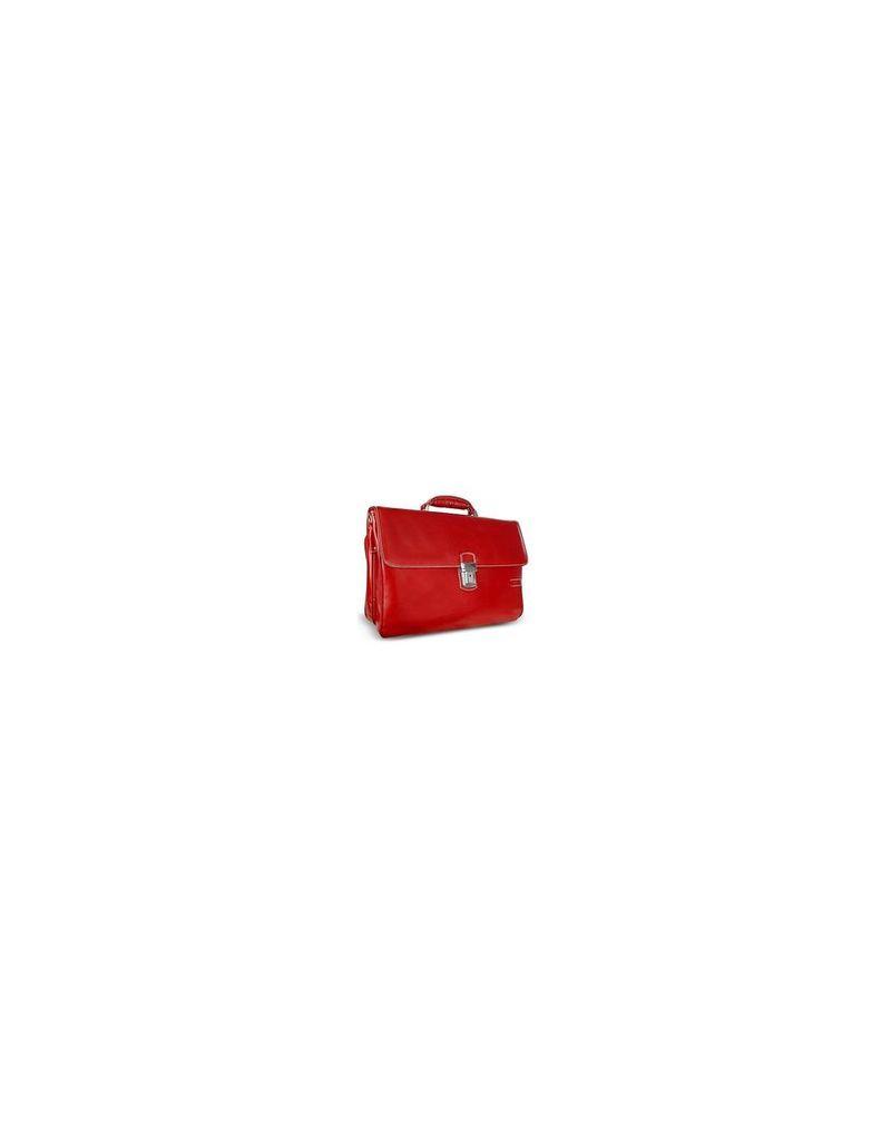 Chiarugi Briefcases, Men's Genuine Leather Double Gusset Briefcase