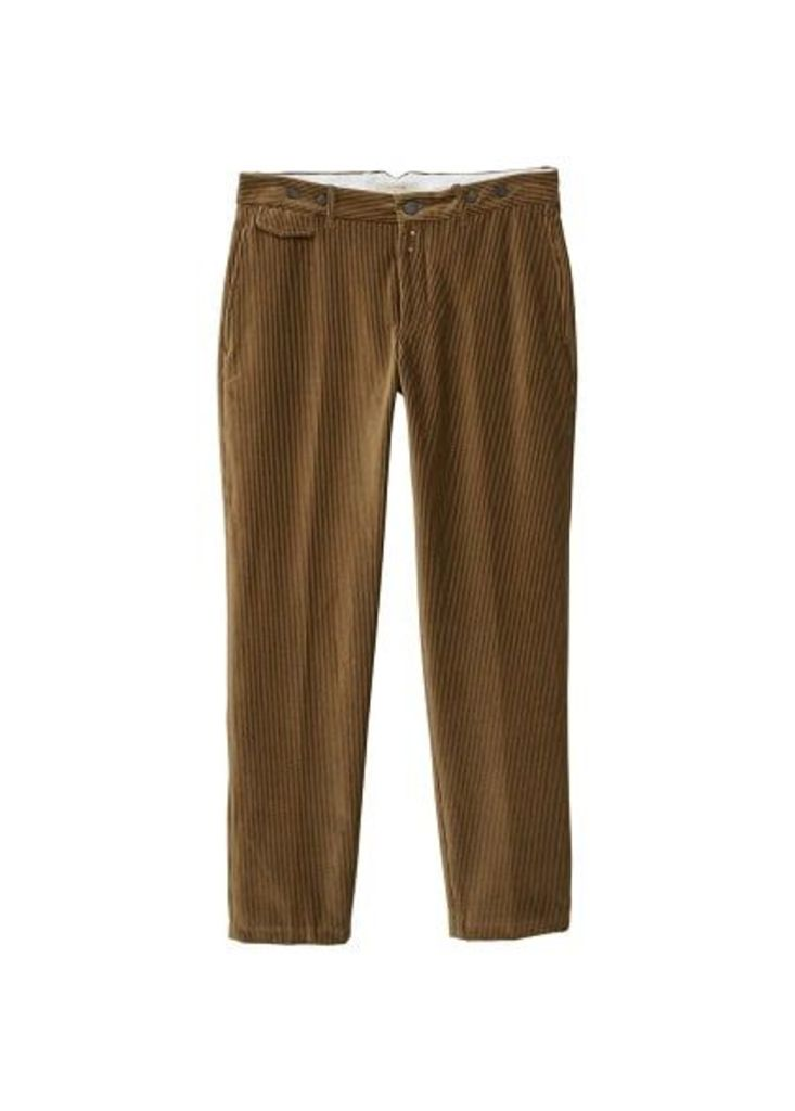Straight-fit organic cotton corduroy trousers