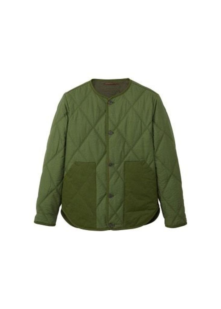 Combined cotton bomber jacket
