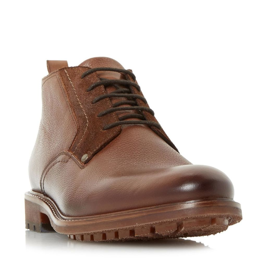 Cell Leather Lace-Up Chukka Boot